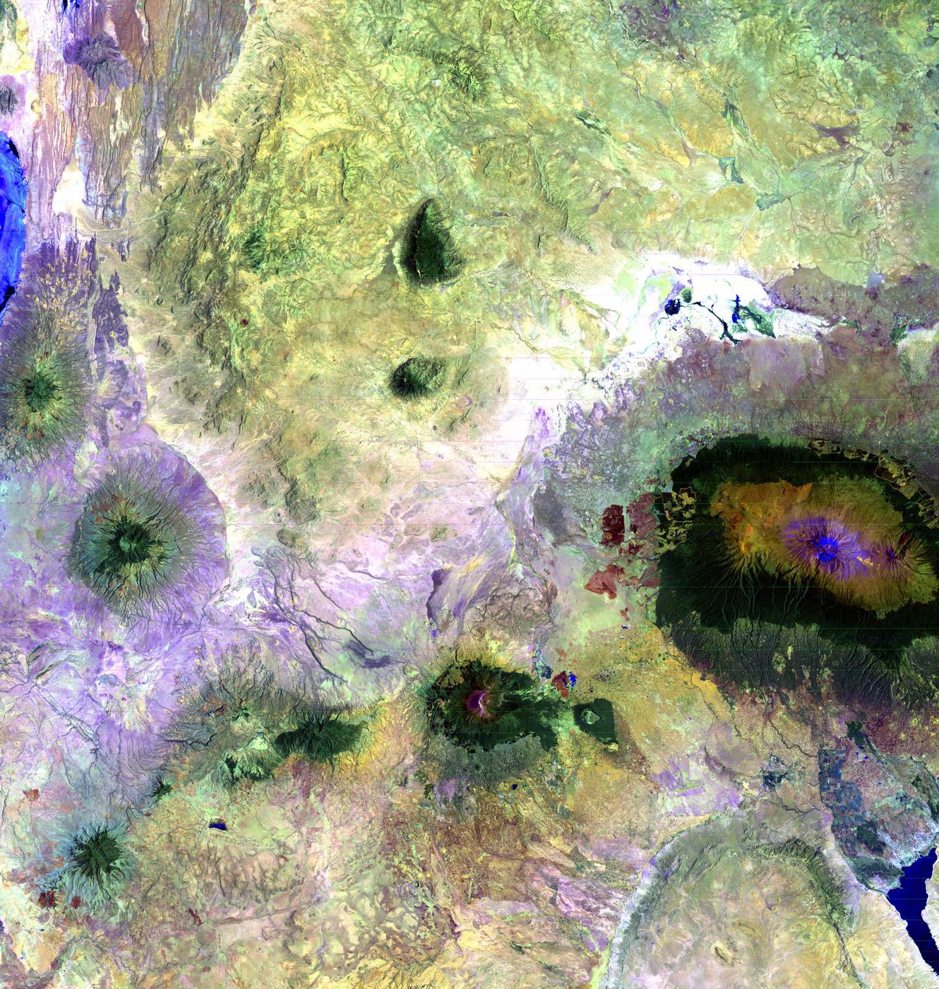 landsat art kilimanjro lrg jpg 1400x1400.